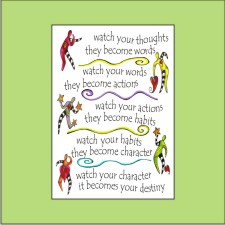 Clay Spirit Studio - Large magnet - Watch your thoughts they